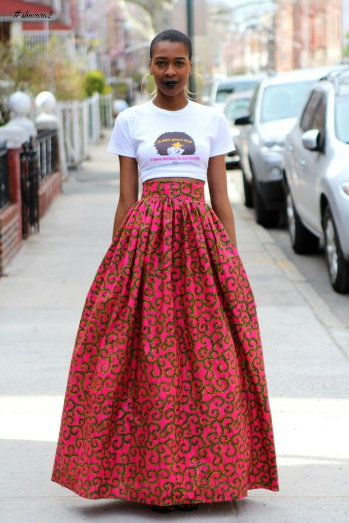 THE MANY WAYS TO STYLE YOUR WHITE TEE AND ANKARA STAPLES